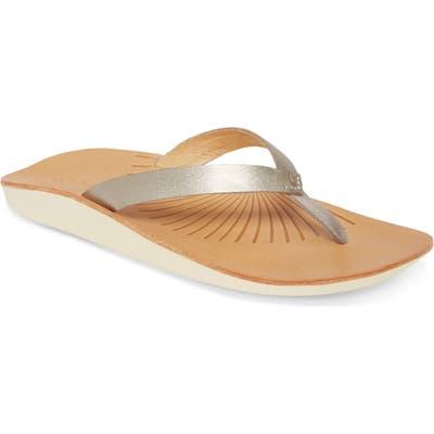 Olukai Iwi Flip Flop, Metallic