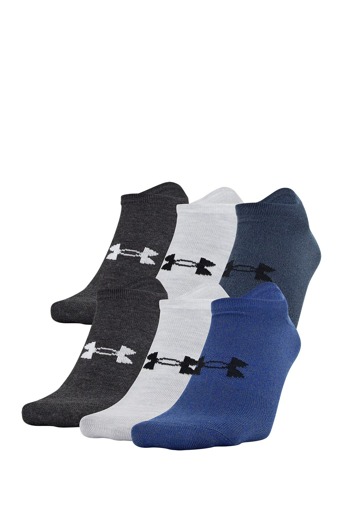 Image of Under Armour Essential Lite No Show Socks - Pack of 6