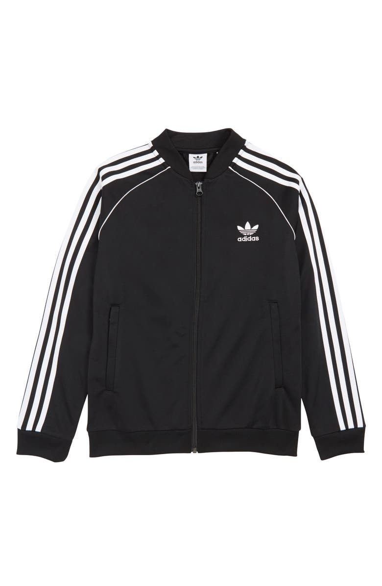 ADIDAS ORIGINALS Superstar Track Jacket, Main, color, BLACK/ WHITE