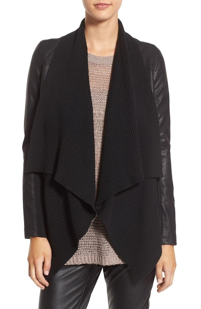 BLANKNYC All or Nothing Faux Leather Jacket, Main, color, 001