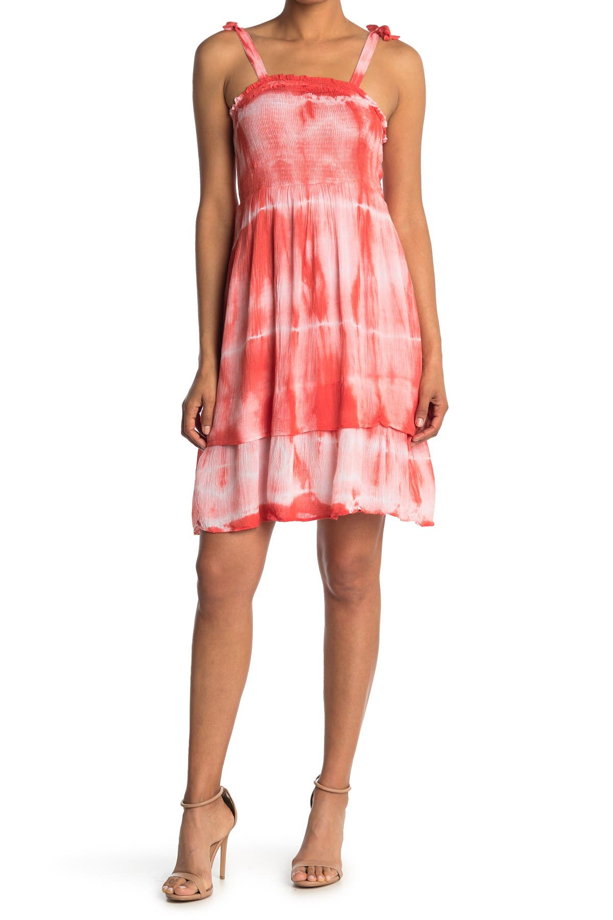 Image of Angie Smocked Top Tie Dye Dress