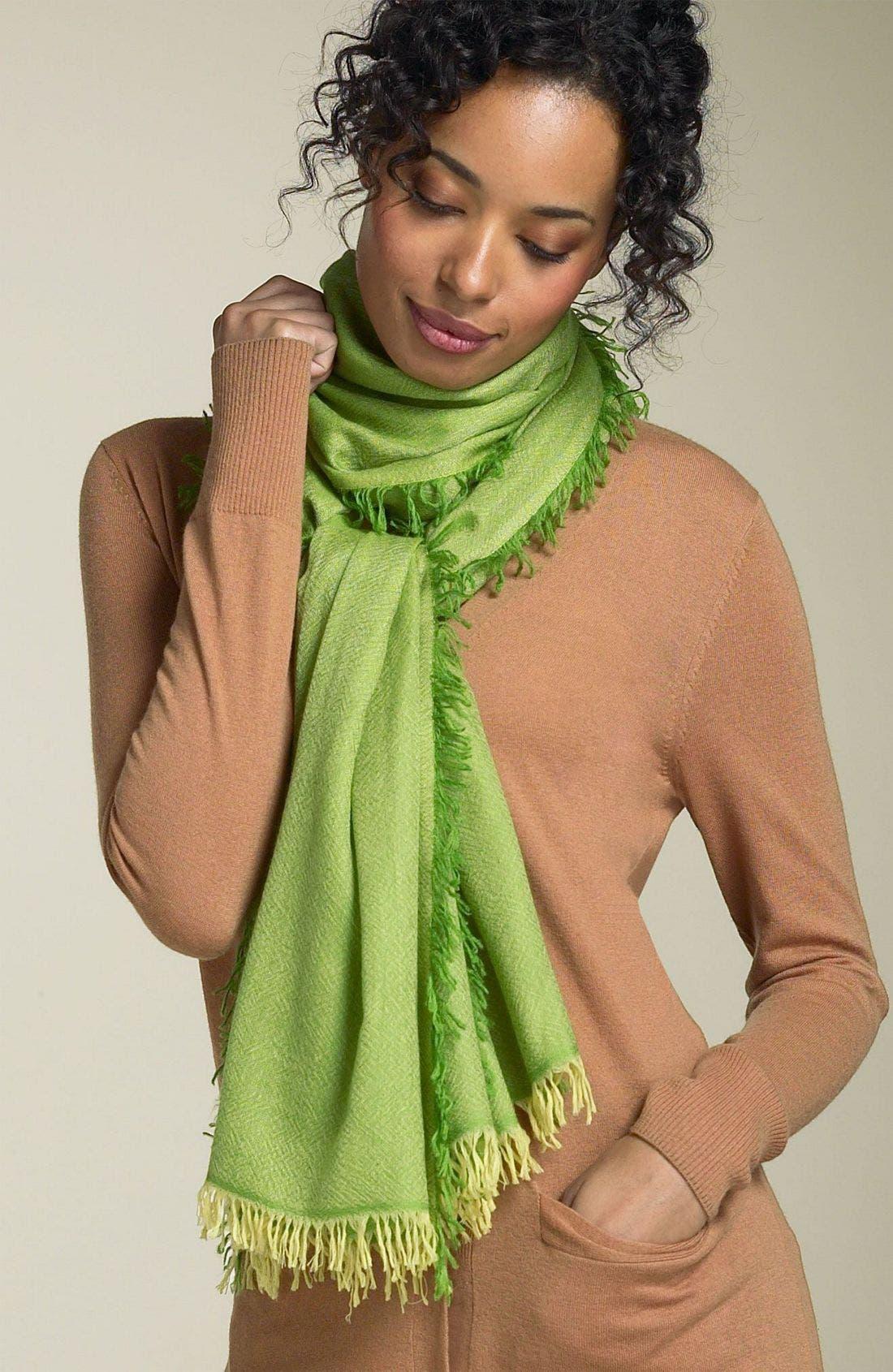 ,                             'Eyelash' Colorblock Cashmere Wrap,                             Main thumbnail 32, color,                             340