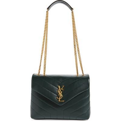 Saint Laurent Small Loulou Quilted Calfskin Shoulder Bag - Green