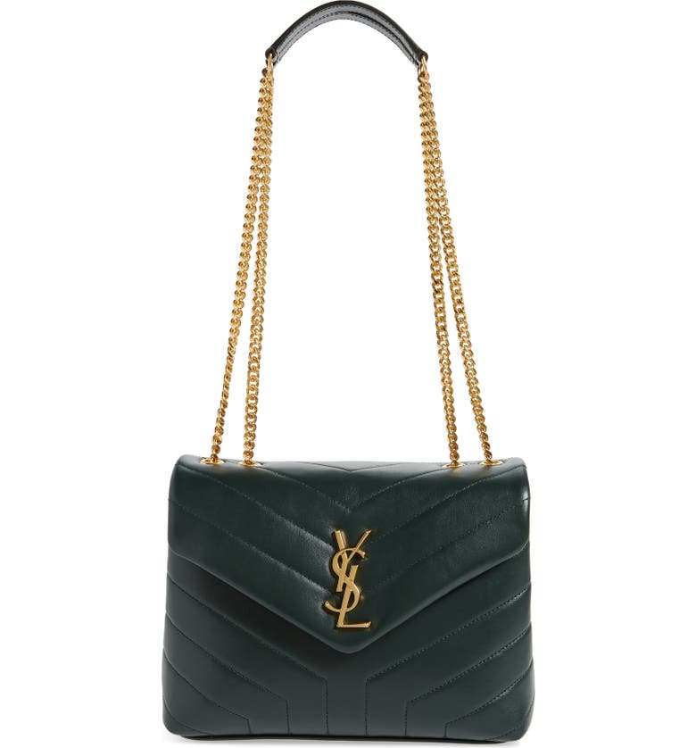 SAINT LAURENT Small Loulou Quilted Calfskin Shoulder Bag, Main, color, MINT