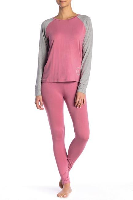 Image of French Connection Raglan Top & Leggings Pajama 2-Piece Set