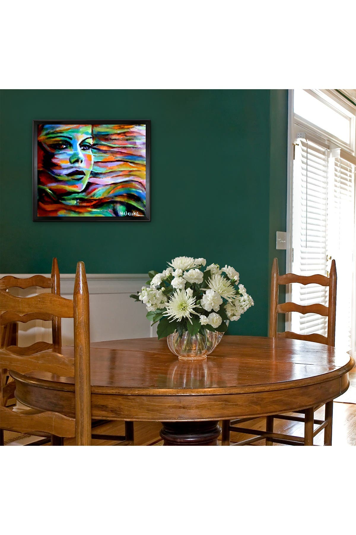 "Image of Overstock Art Sheltered by the wind with Studio Black Wood Angle Frame - 22.5"" x 26.5"""