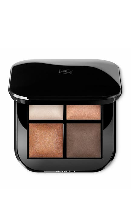 Image of Kiko Milano Bright Quartet Baked Eyeshadow Palette - 01 Warm Natural Tones