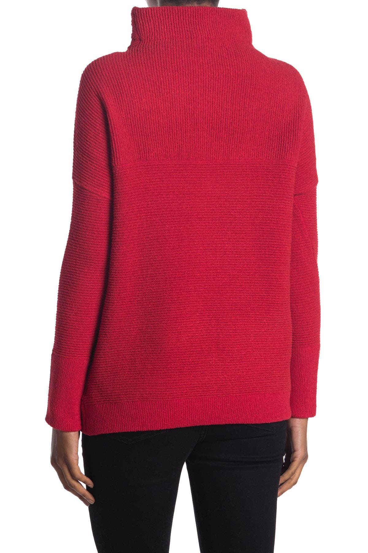 Image of Modern Designer Cozy Mock Neck Dolman Pullover Sweater
