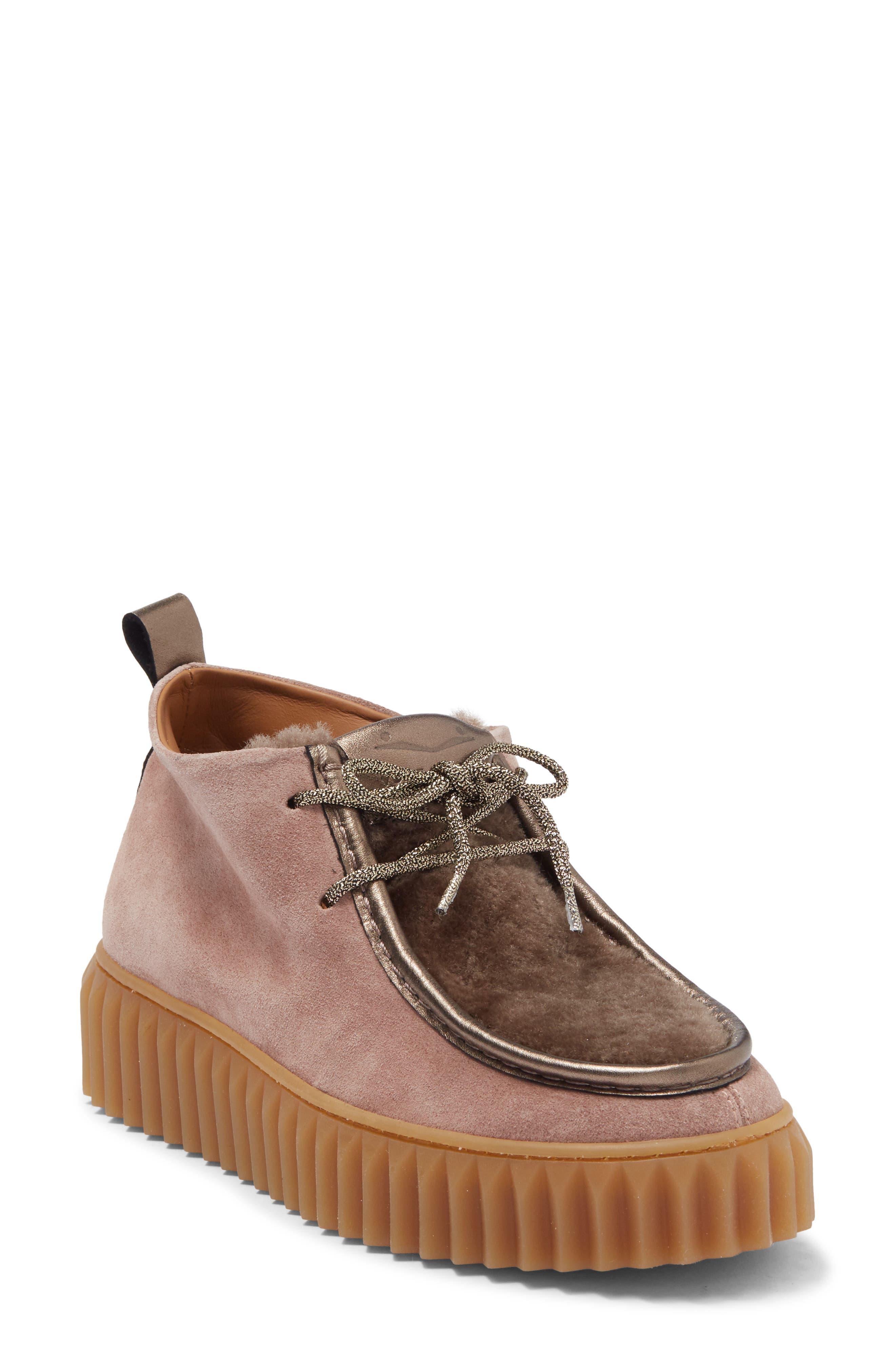 Image of Viola Blanche Penelope Platform Suede Sneaker