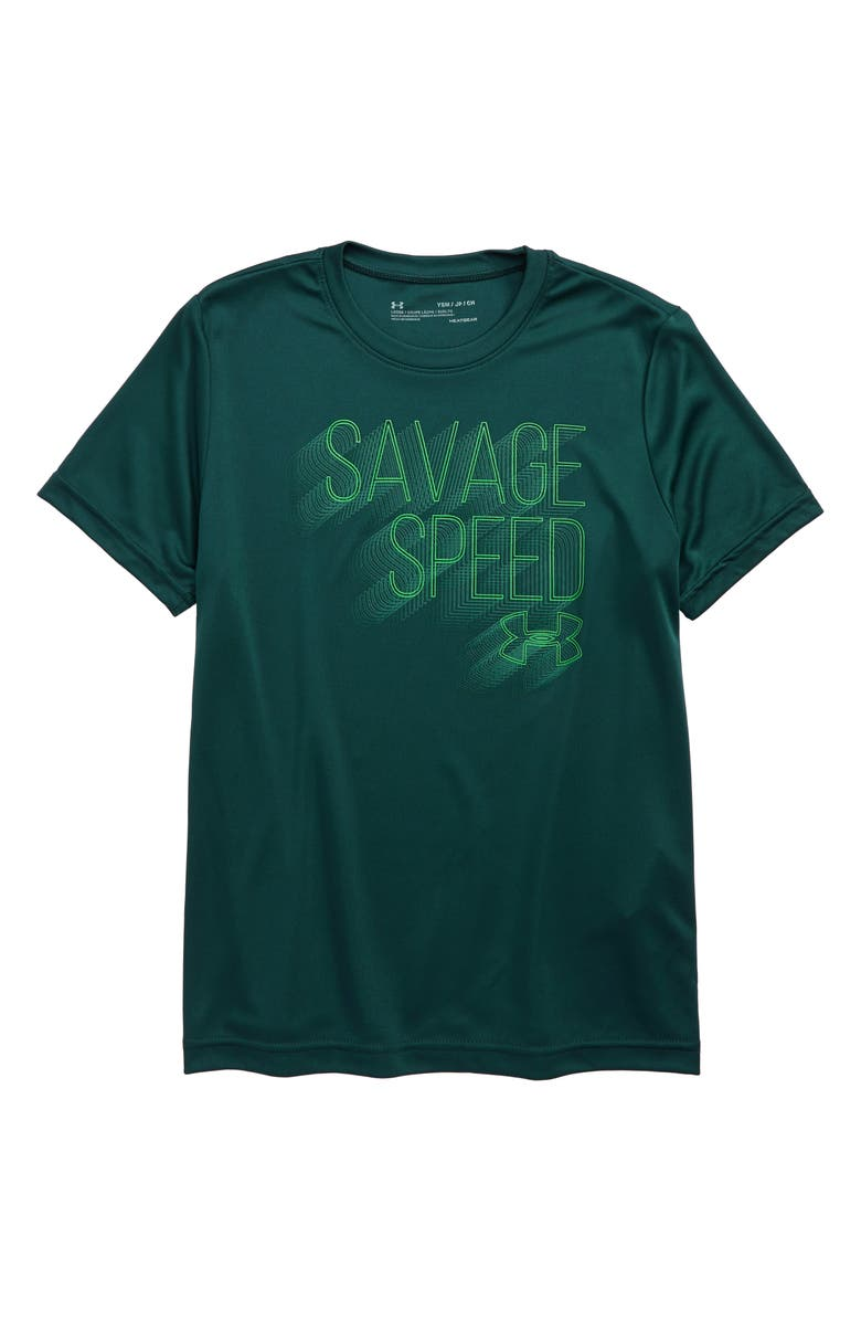 UNDER ARMOUR Savage Speed Graphic T-Shirt, Main, color, 366