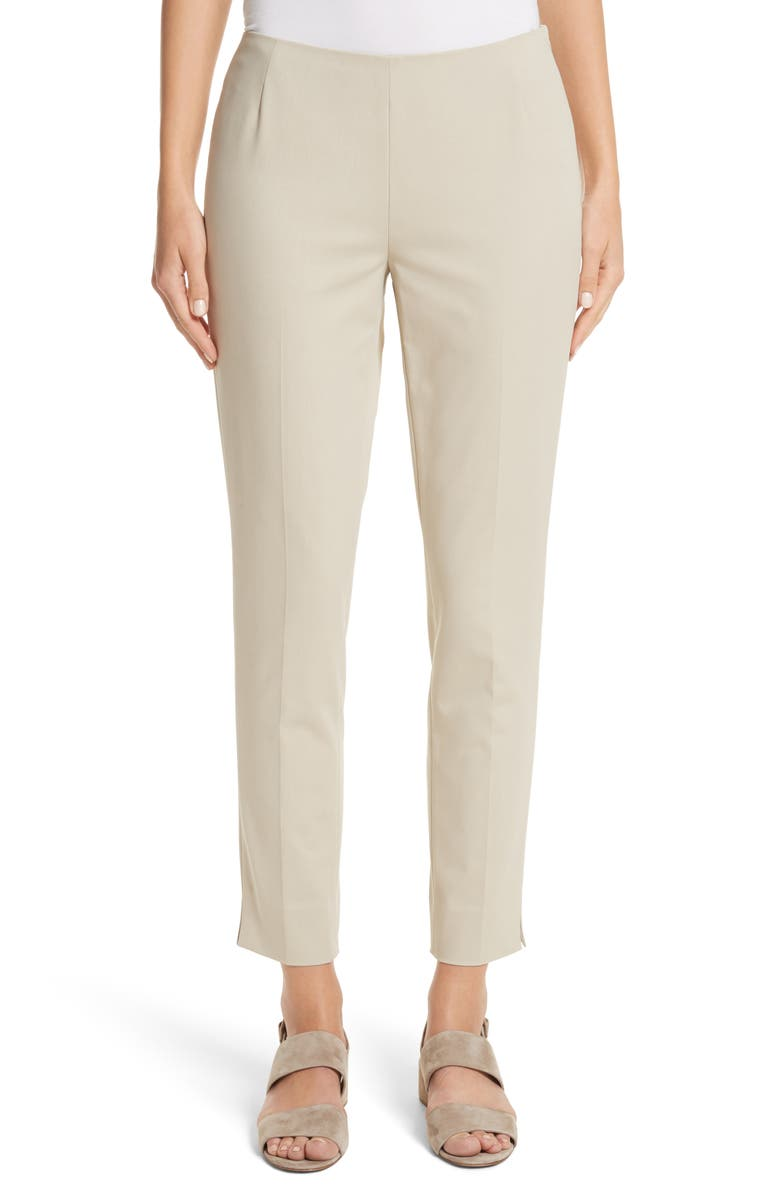 LAFAYETTE 148 NEW YORK 'Stanton' Slim Leg Ankle Pants, Main, color, KHAKI