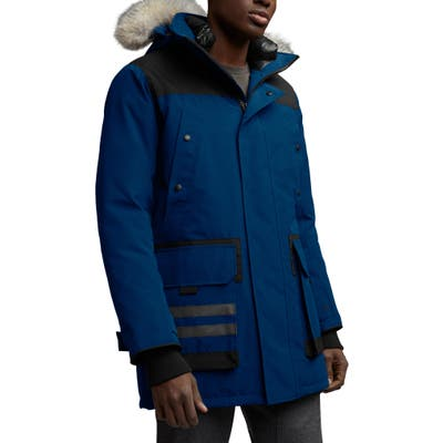 Canada Goose Erickson Down Parka With Genuine Coyote Fur Trim, Blue