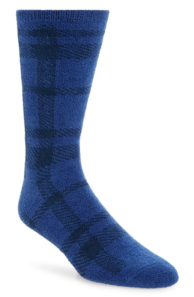 NORDSTROM MEN'S SHOP Plaid Butter Socks, Main, color, 410