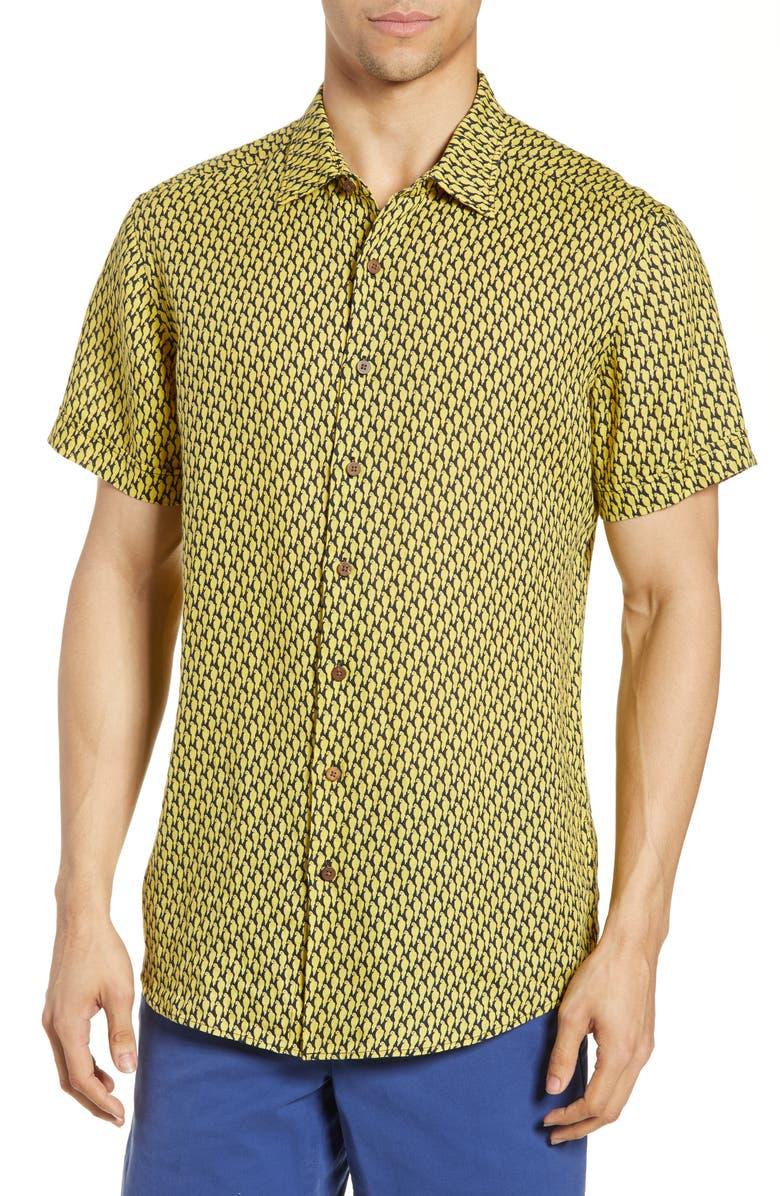 RODD & GUNN McLaren Falls Linen Regular Fit Sport Shirt, Main, color, 700