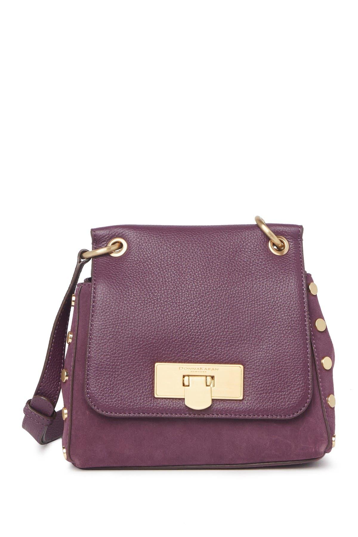 Image of Donna Karan Bayle Leather Crossbody Bag