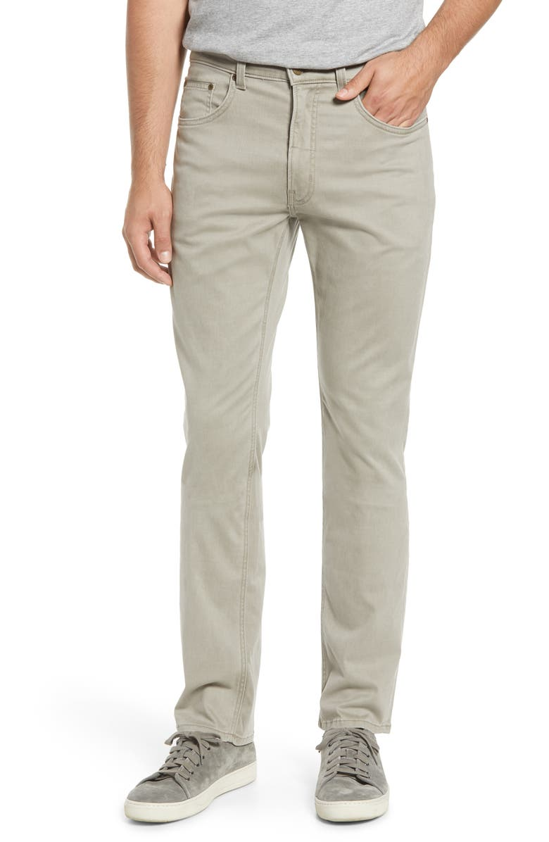 BILLS KHAKIS Straight Leg Performance Twill Pants, Main, color, OYSTER