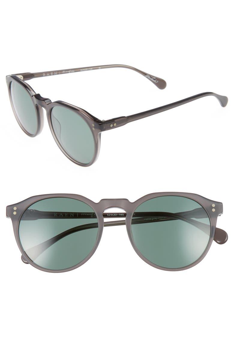 RAEN 'Remmy' 52mm Polarized Sunglasses, Main, color, 020
