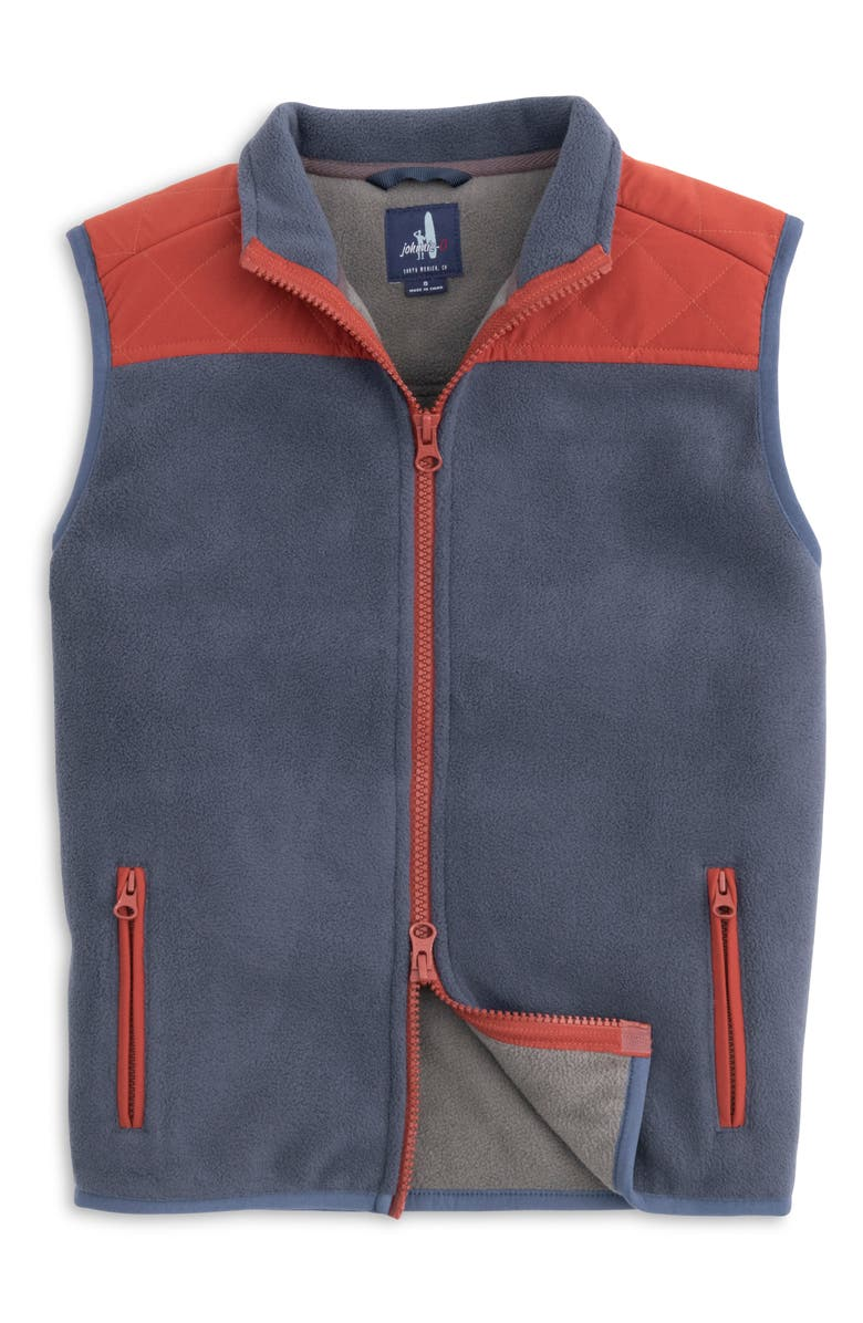 JOHNNIE-O Morrison Zip Front Water Resistant Vest, Main, color, WAKE