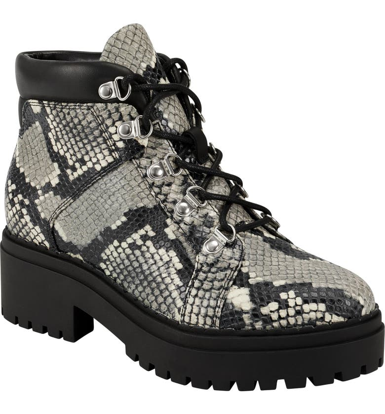 MARC FISHER LTD Nula Lace-Up Boot, Main, color, GREY MULTI LEATHER