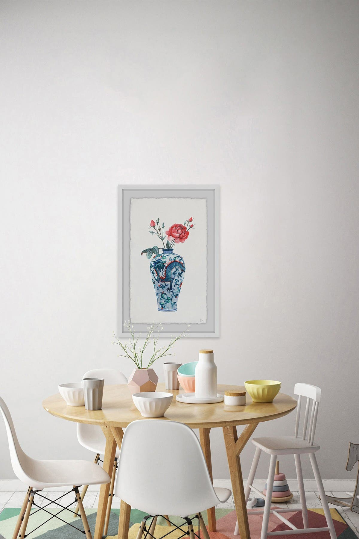 """Image of Marmont Hill Inc. Blooming Flowers Framed Painting Print - 24"""" x 16"""""""