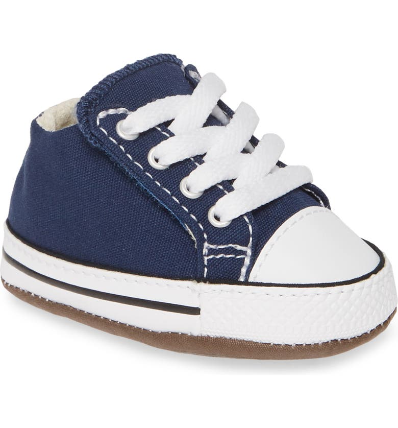 CONVERSE Chuck Taylor<sup>®</sup> All Star<sup>®</sup> Cribster Low Top Crib Shoe, Main, color, NAVY/ NATURAL IVORY/ WHITE
