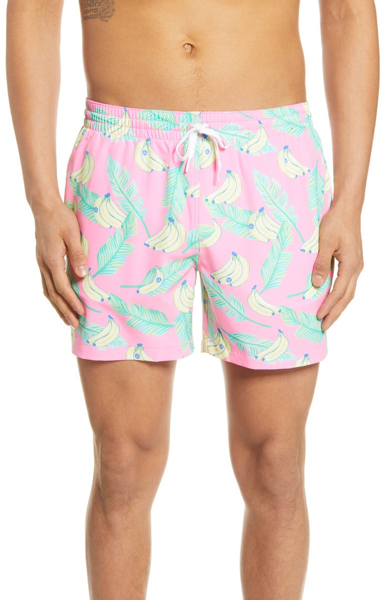 CHUBBIES The Peelin Goods 5.5-Inch Swim Trunks, Main, color, DARK PINK
