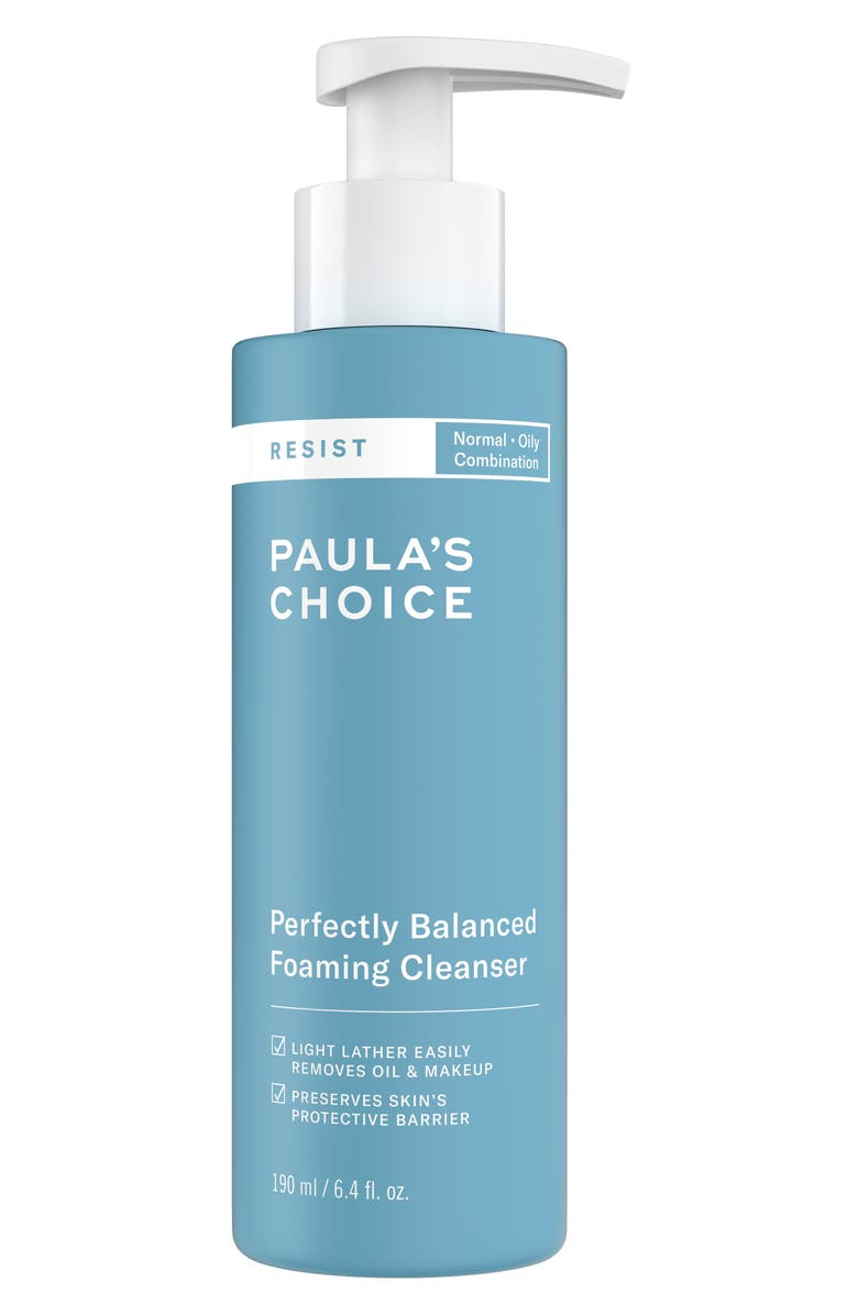 PAULA'S CHOICE Resist Perfectly Balanced Foaming Cleanser, Main, color, NO COLOR
