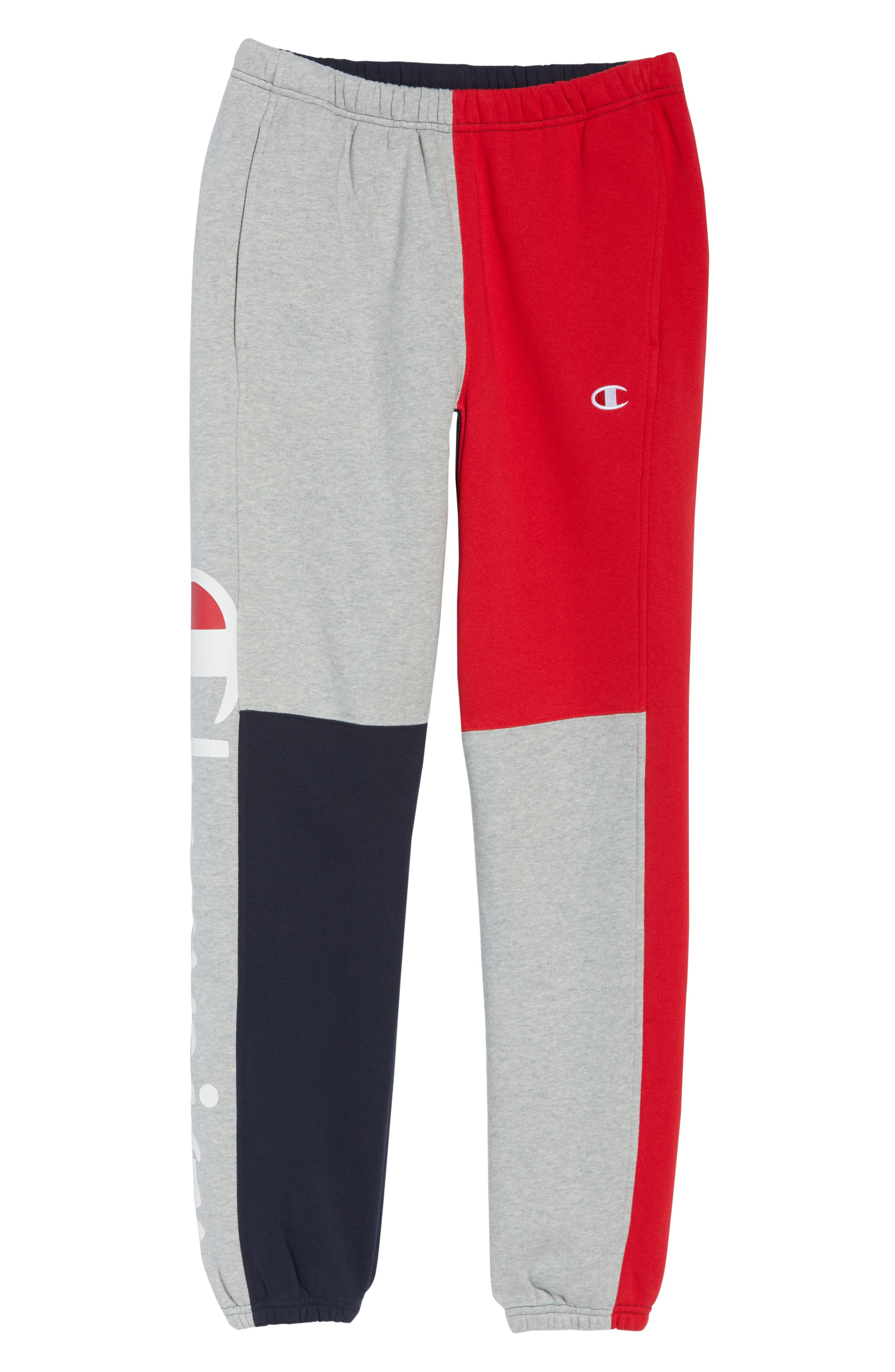 ,                             Colorblock Sweatpants,                             Alternate thumbnail 5, color,                             NAVY/ OXFORD GREY/ SCARLET