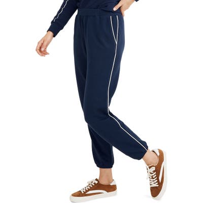 Madewell Piped Western Jogger Sweatpants, Blue