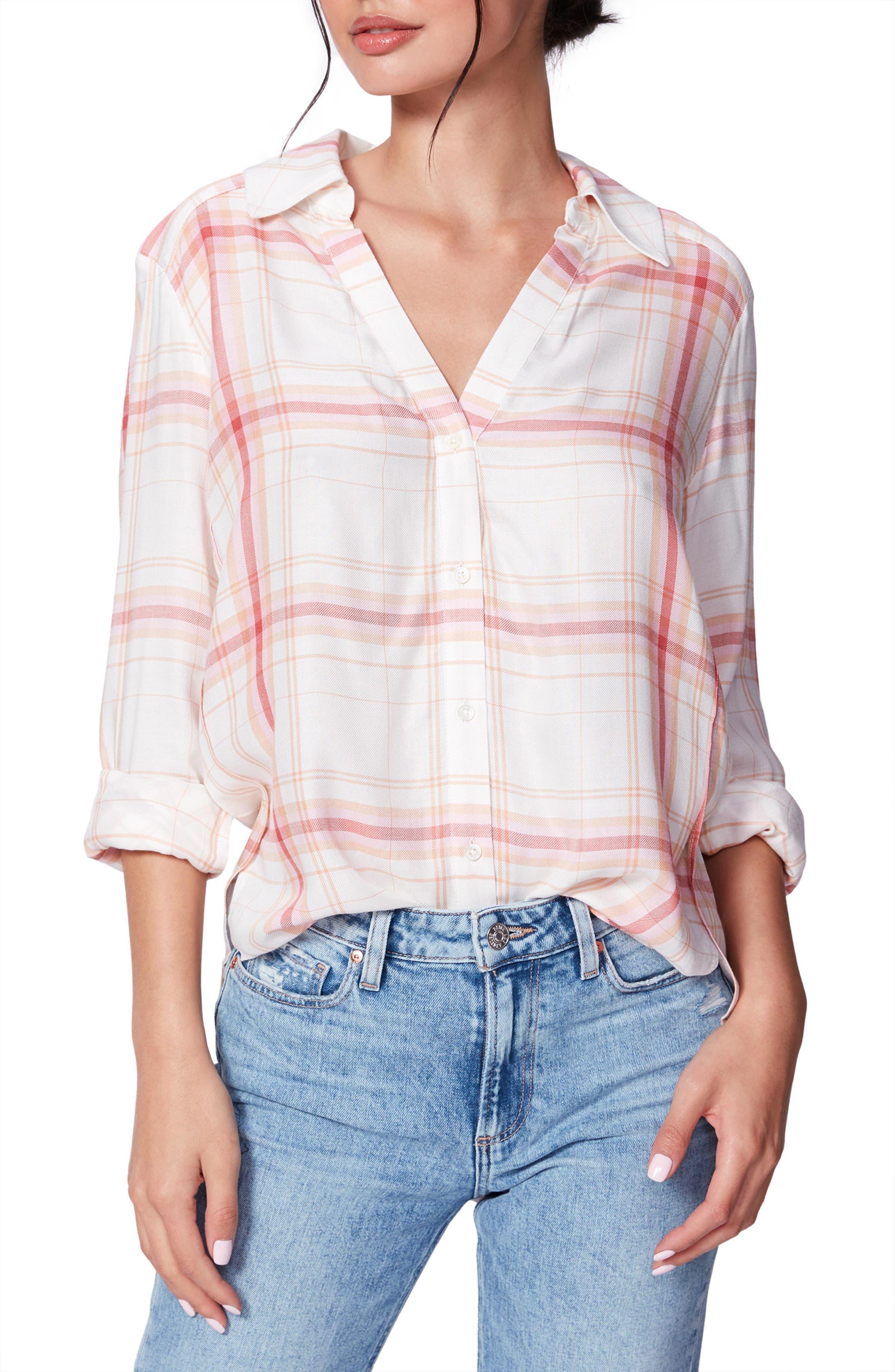 Image of PAIGE Davlyn Plaid Boyfriend Shirt