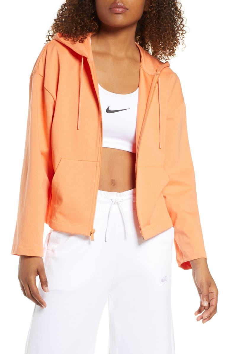 NIKE Sportswear Jersey Full Zip Hoodie, Main, color, ORTRNC/ORTRNC