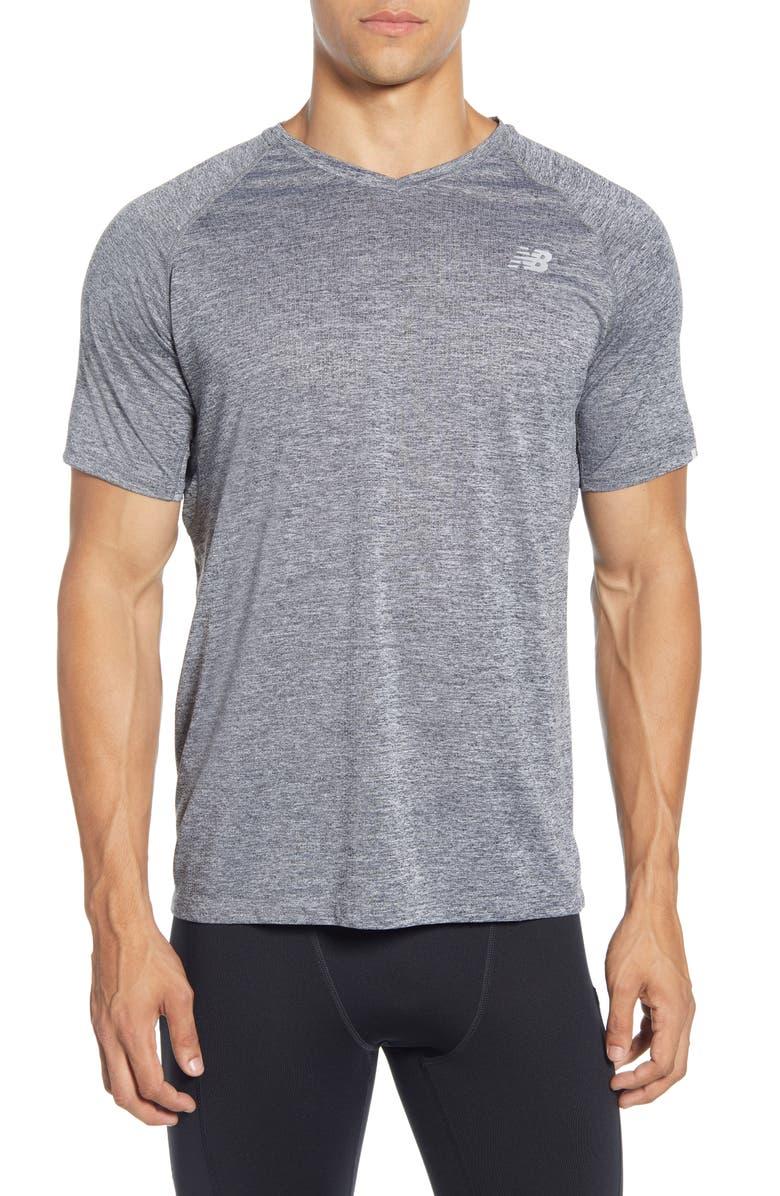 NEW BALANCE Impact Run Mesh T-Shirt, Main, color, BLACK
