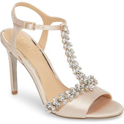 Jewel Badgley Mischka Maxi Crystal Embellished Sandal