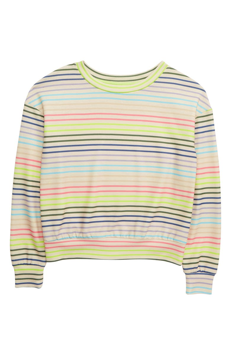 LOVE, FIRE Active Stripe Sweatshirt, Main, color, 020