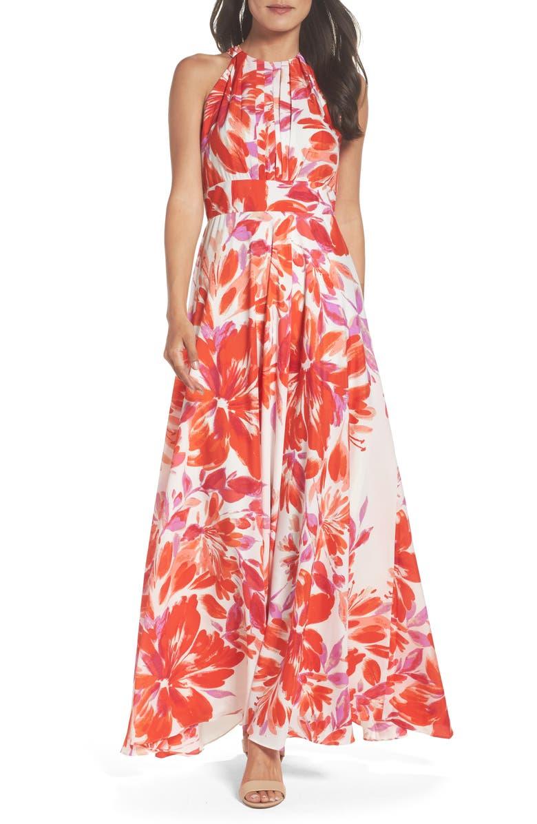 ELIZA J Chiffon Gown, Main, color, 870