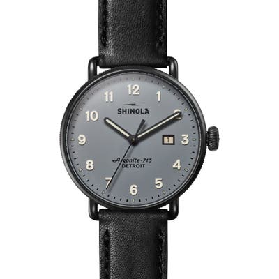 Shinola The Canfield Leather Strap Watch, 4m