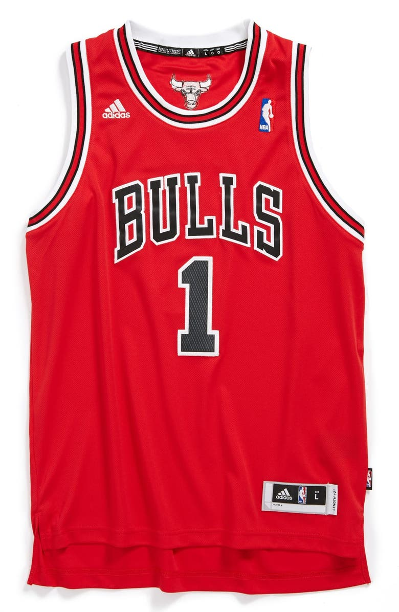 online retailer a0f73 2fdbe adidas 'Chicago Bulls, Derrick Rose - Swingman' Jersey (Big ...