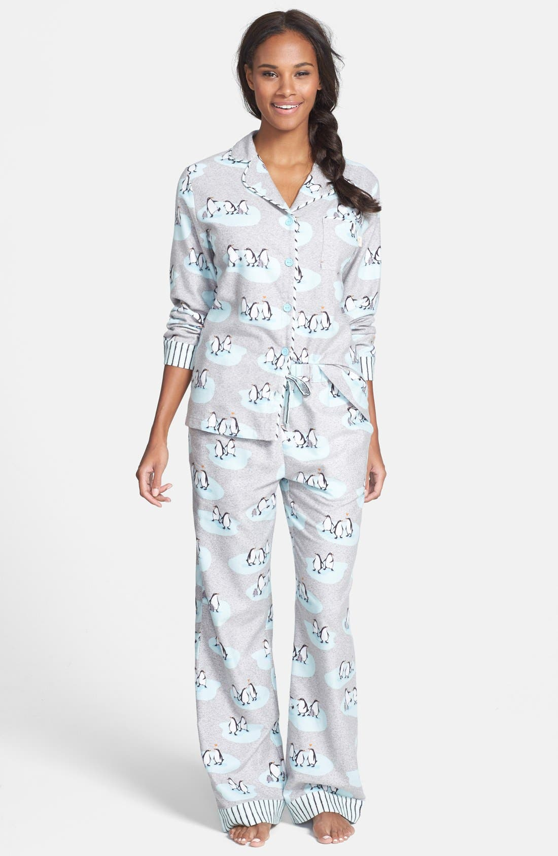 ,                             Flannel Pajamas,                             Main thumbnail 4, color,                             061
