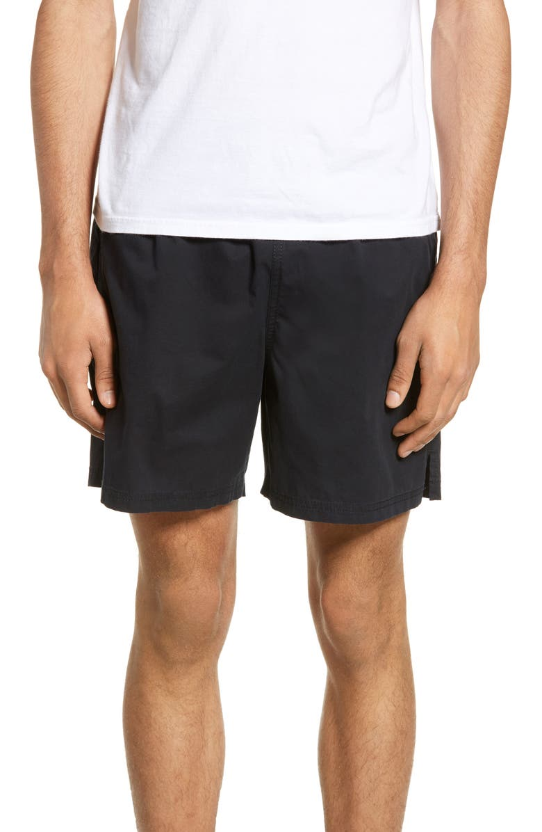THE RAIL Volley Shorts, Main, color, BLACK ROCK