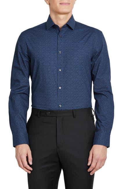Image of John Varvatos Star USA Floral Print Extra Trim Dress Shirt