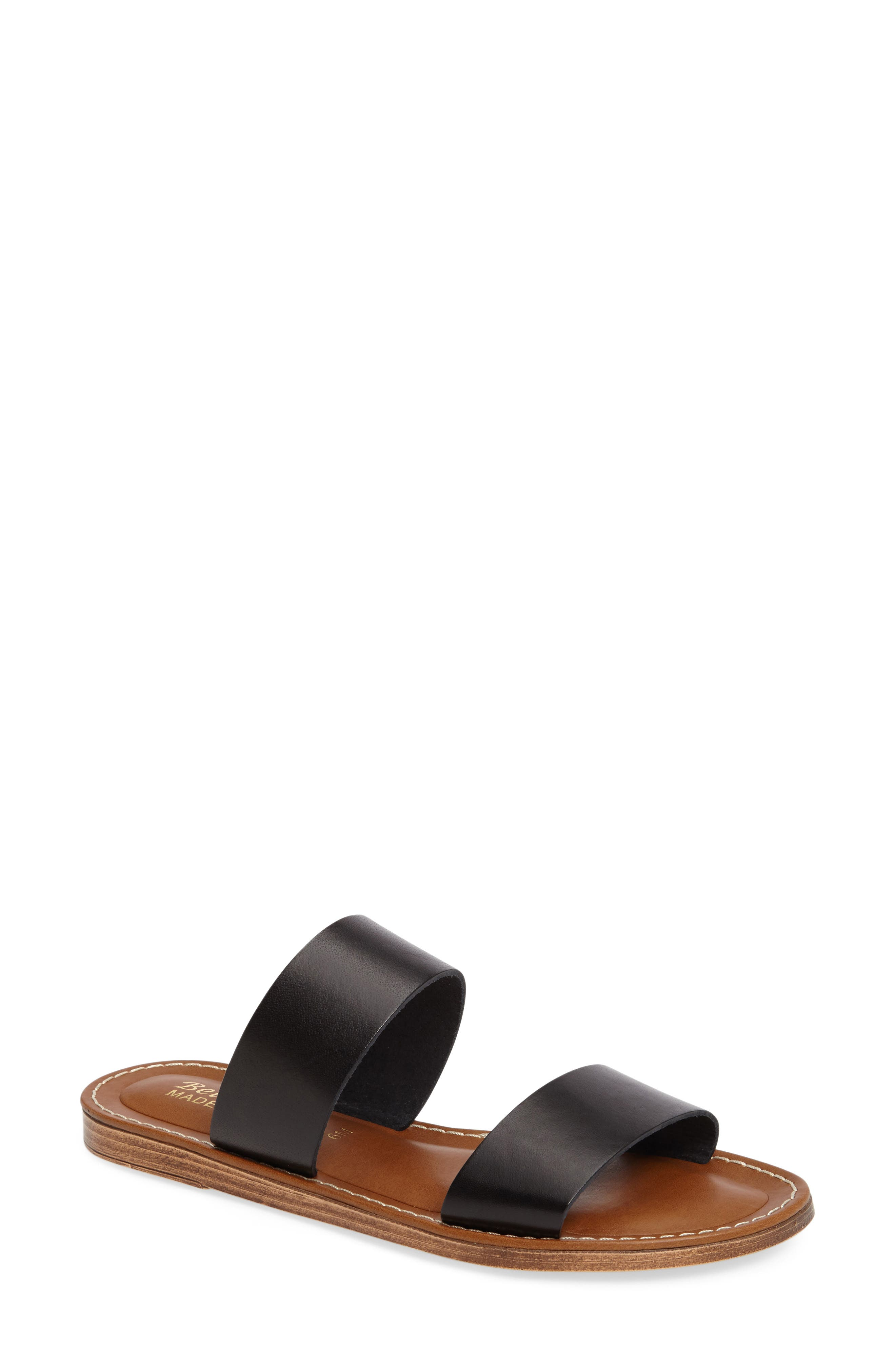 A flat sandal made from Italian leather completes any ensemble with modern minimalism. Style Name: Bella Vita Imo Slide Sandal (Women). Style Number: 5337623 2. Available in stores.
