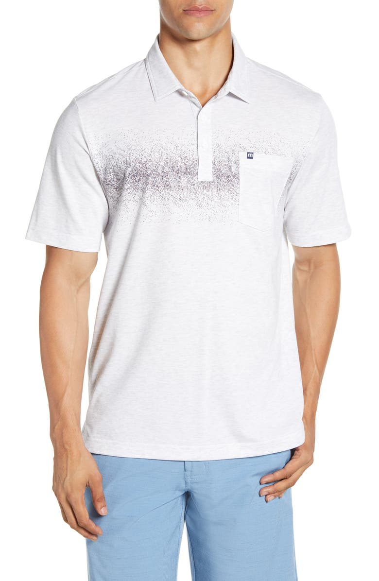 TRAVISMATHEW Not An Invitation Polo, Main, color, HEATHER WHITE
