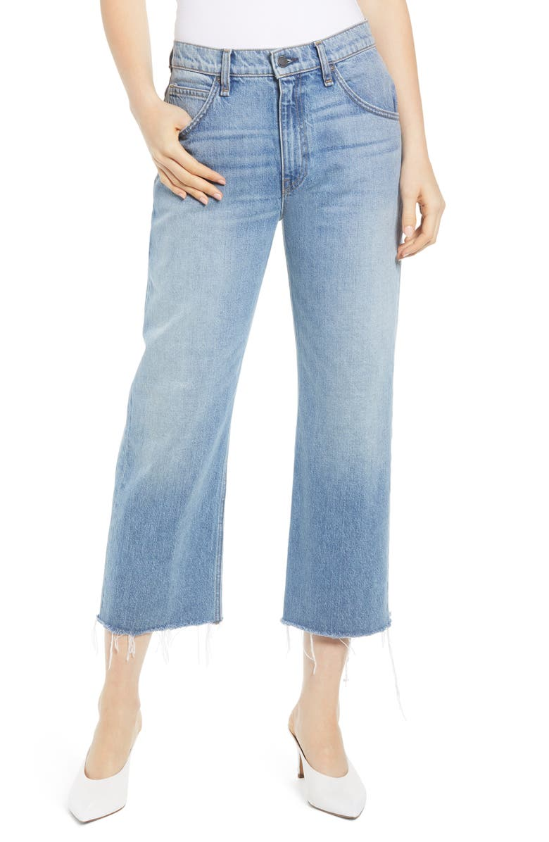 HUDSON JEANS Sloane High Waist Crop Baggy Jeans, Main, color, 420