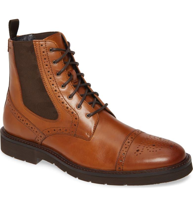J&M 1850 Kinley Cap Toe Boot, Main, color, TAN