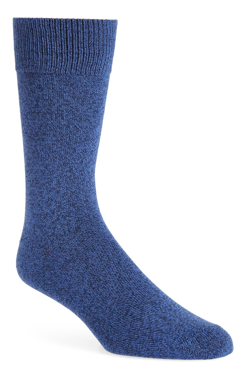 NORDSTROM MEN'S SHOP Ultrasoft Solid Socks, Main, color, BLUE AMPARO