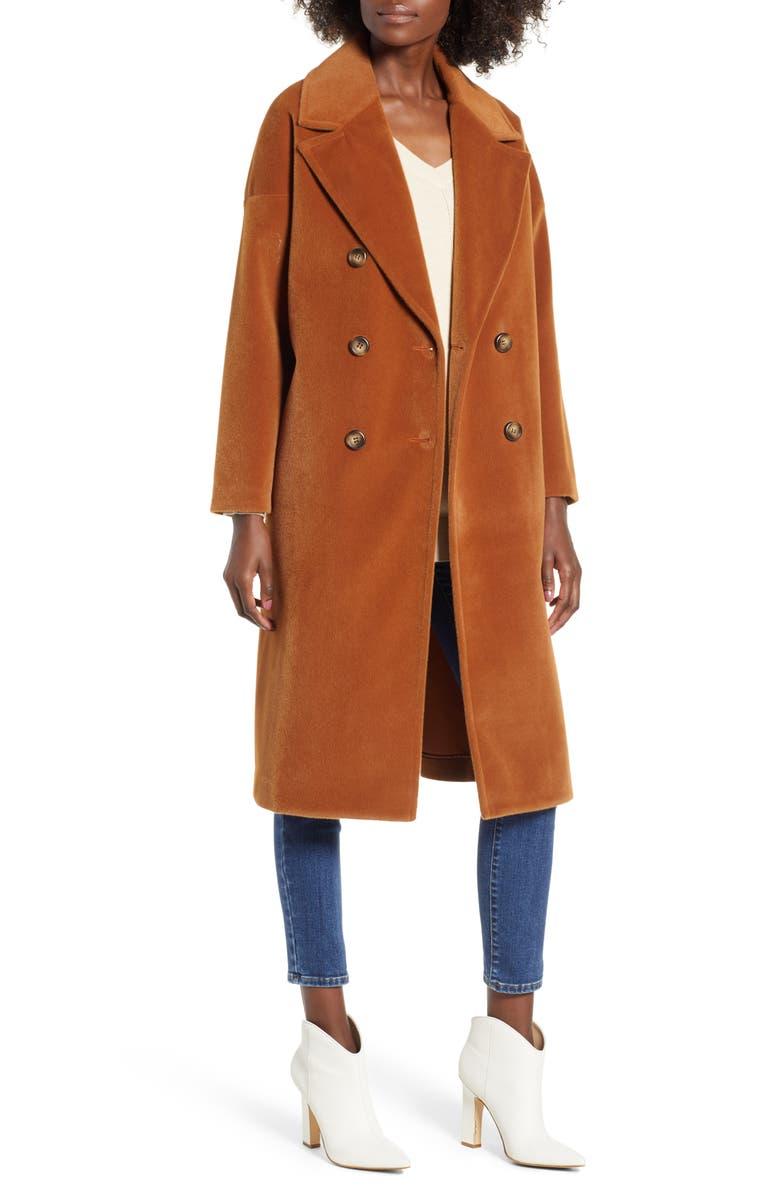 MURAL Oversize Midi Coat, Main, color, 200
