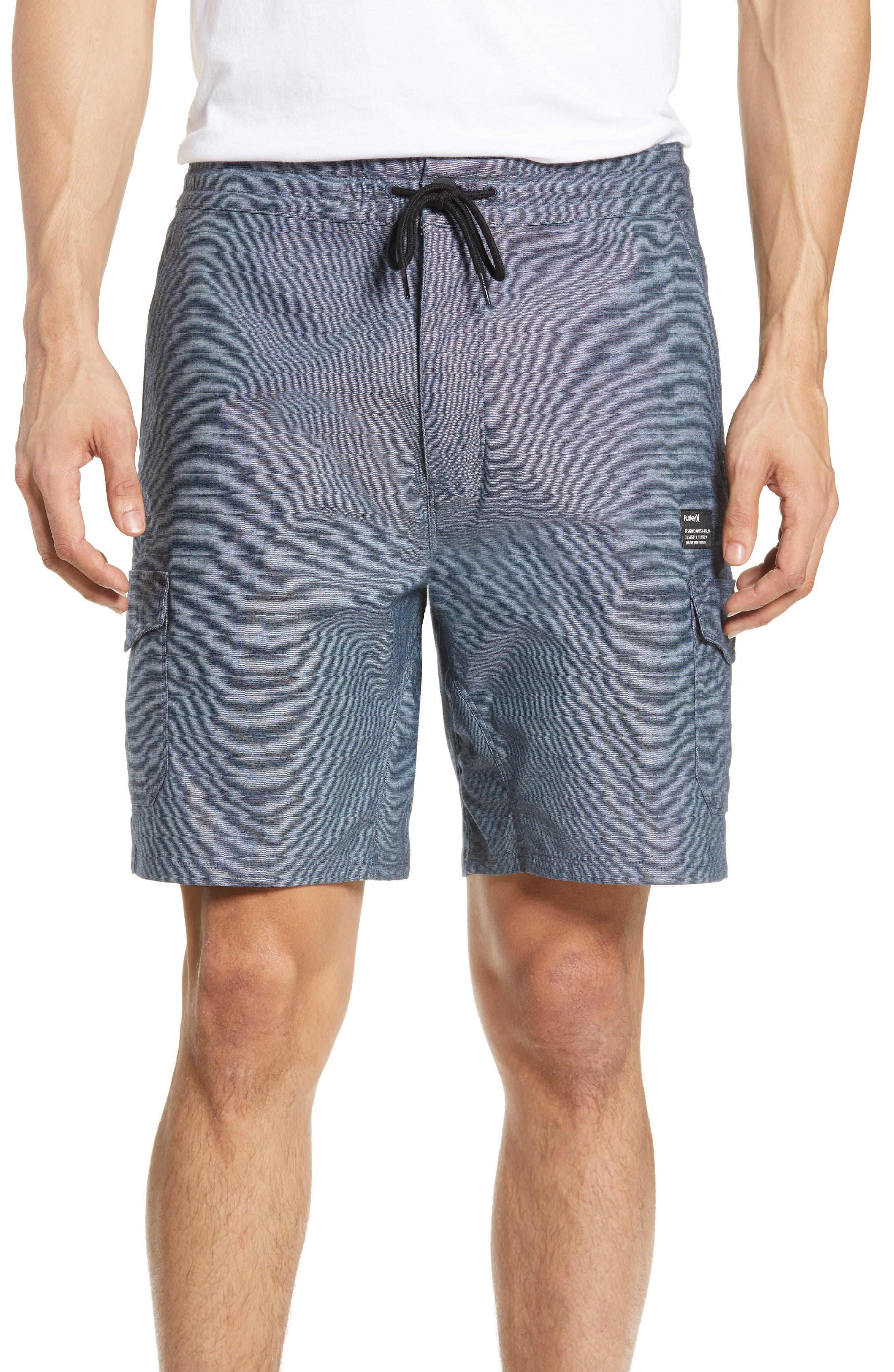 Hurley Dri-Fit Breathe Cargo Shorts, Blue