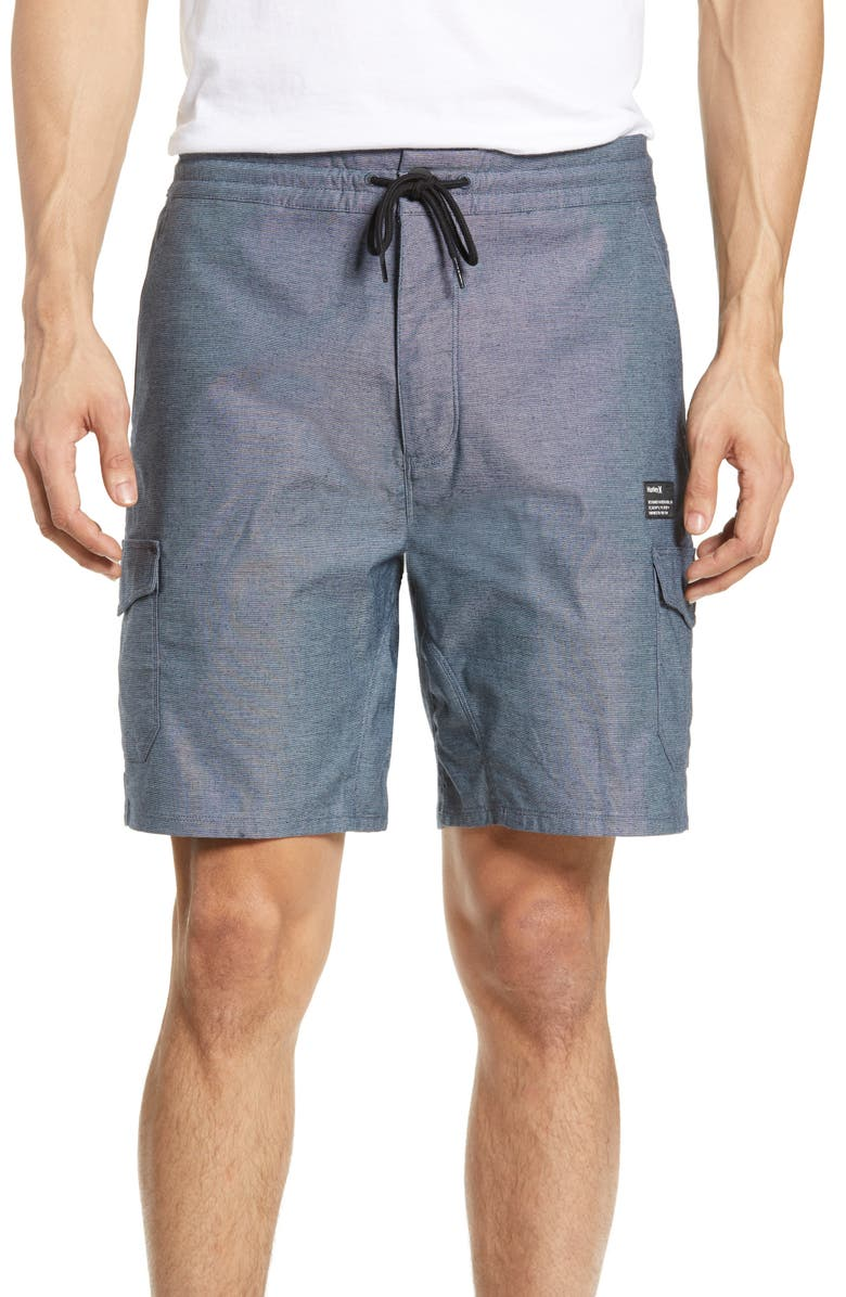 HURLEY Dri-FIT Breathe Cargo Shorts, Main, color, OBSIDIAN