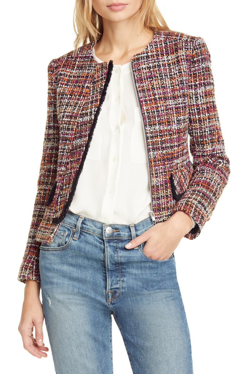 HELENE BERMAN Judy Crop Tweed Jacket, Main, color, 650