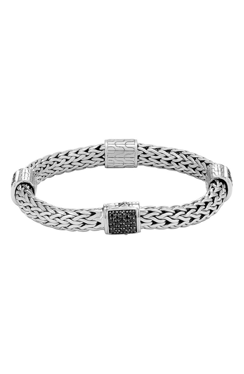 JOHN HARDY Classic Medium Link Chain Bracelet, Main, color, SILVER/ BLACK SAPPHIRE
